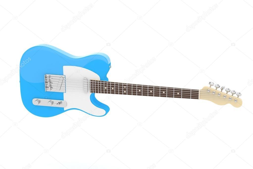3D e-Gitarre — Stockfoto © merznatalia #118598014