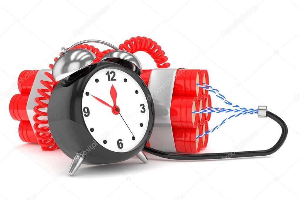 49698e24e557 Reloj despertador con dinamita