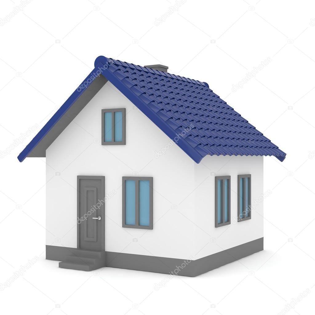 Attractive 3D Haus Mit Dach U2014 Stockfoto