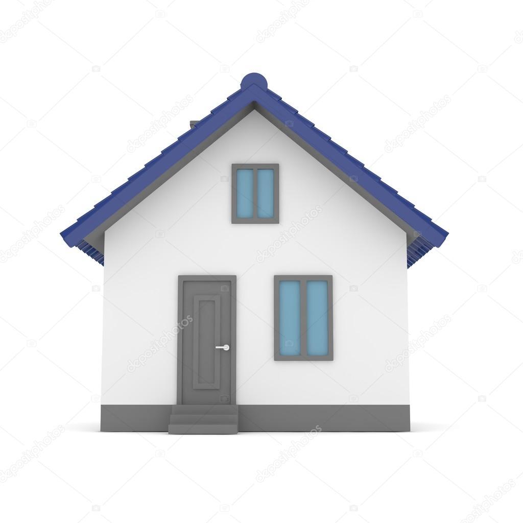 Amazing 3D Haus Mit Dach U2014 Stockfoto