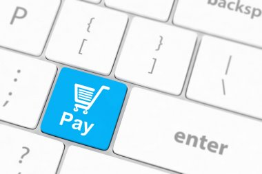 Pay key with shopping cart