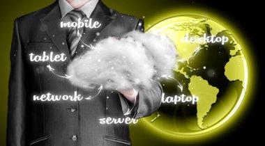Cloud computing, technology connectivity concept stock vector