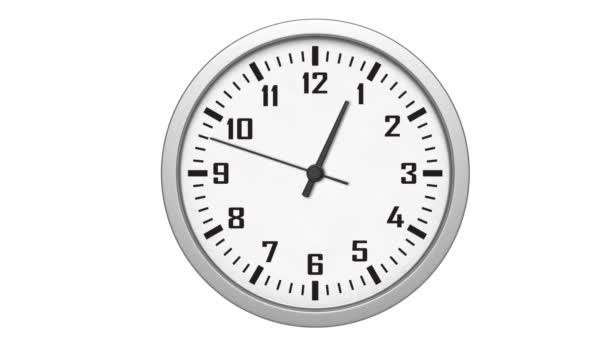 Animated clock counting down 12 hours over 30 seconds. Seamlessly loops.