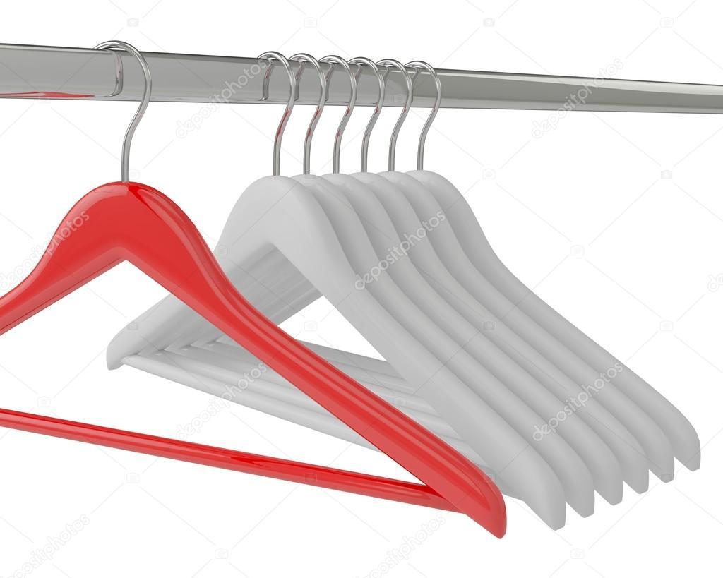 weiße und rote Kleiderbügel — Stockfoto © merznatalia #67683869