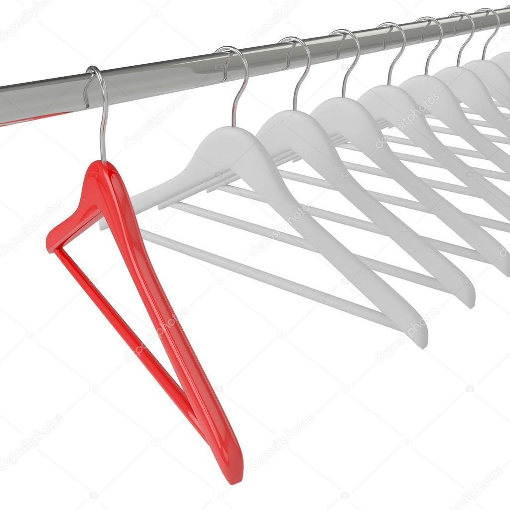 weiße und rote Kleiderbügel — Stockfoto © merznatalia #70757153