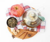 Fotografie drink in glass teapot
