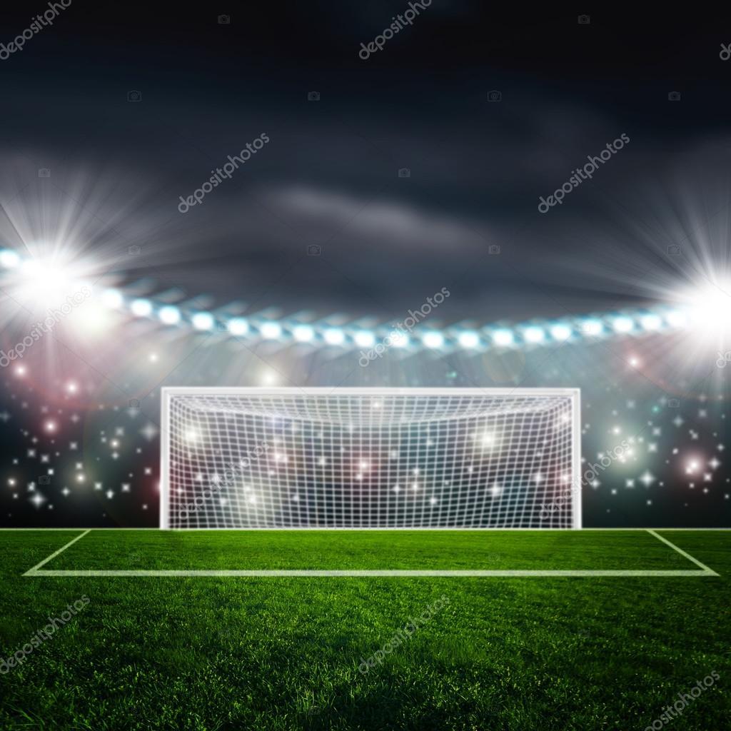 Fussballstadion In Der Nacht Stockfoto C Merznatalia 71553215