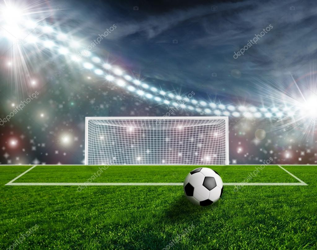 Campo de fútbol en la noche  f534b28340642