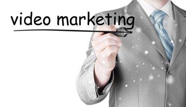 Man writing Video Marketing