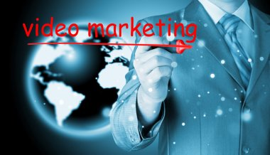 Man writing Video Marketing
