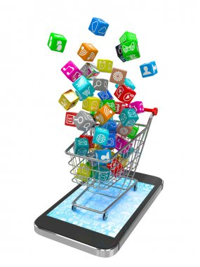 app icons in shopping cart