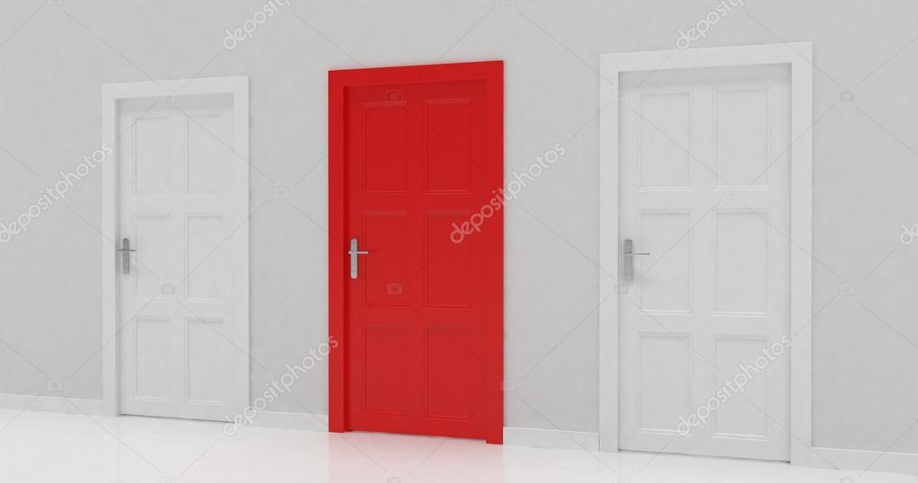 Verschlossenen Türen in Wand — Stockfoto © merznatalia #87391032