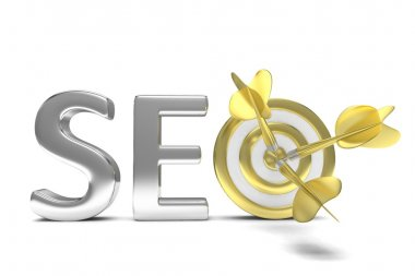 3d SEO concept on white background stock vector