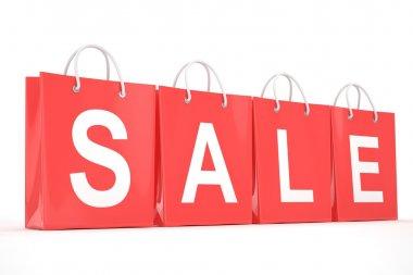 sale written on shopping bags