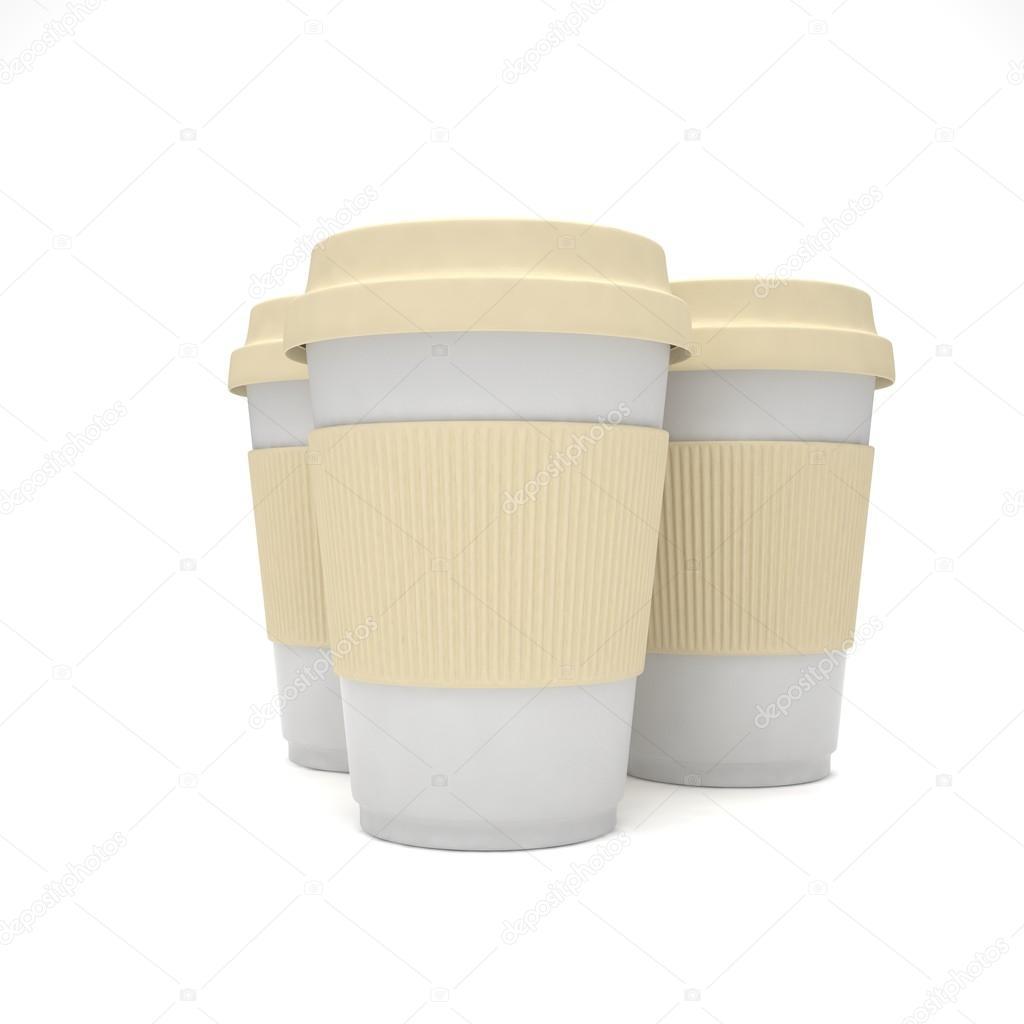 3d Coffee To Go Cups Stock Photo Merznatalia 98699050