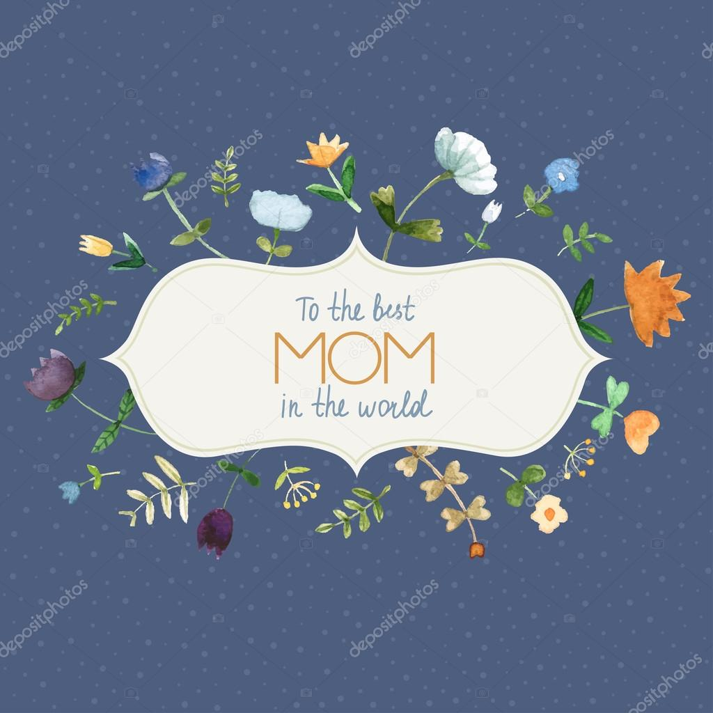 Marvelous Happy Mothers days card in vector.