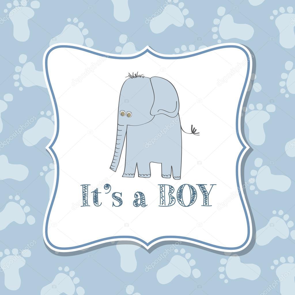 Imagenes Invitacion Baby Shower Nino Elefante Invitacion De Nino