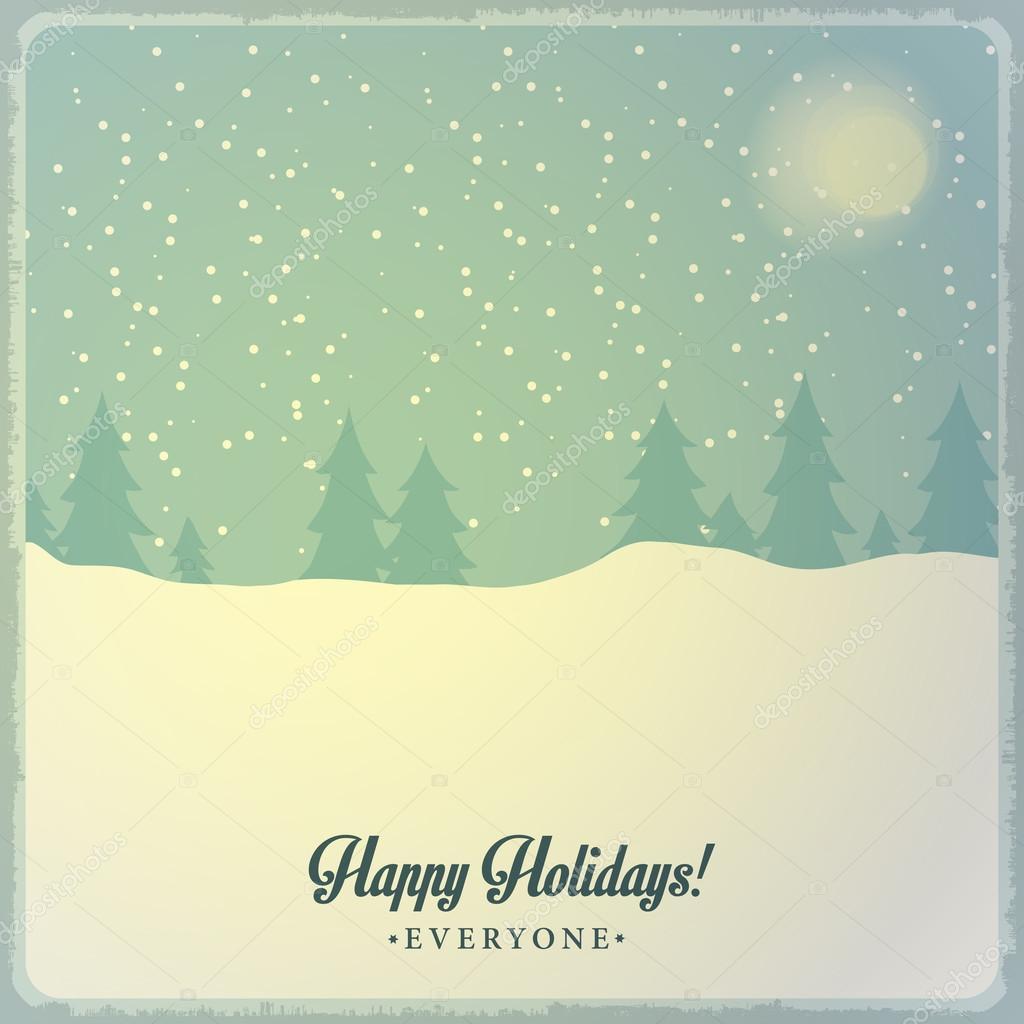 Weihnachts-Postkarte-Dekoration-Hintergrund. Frohes neues Jahr ...