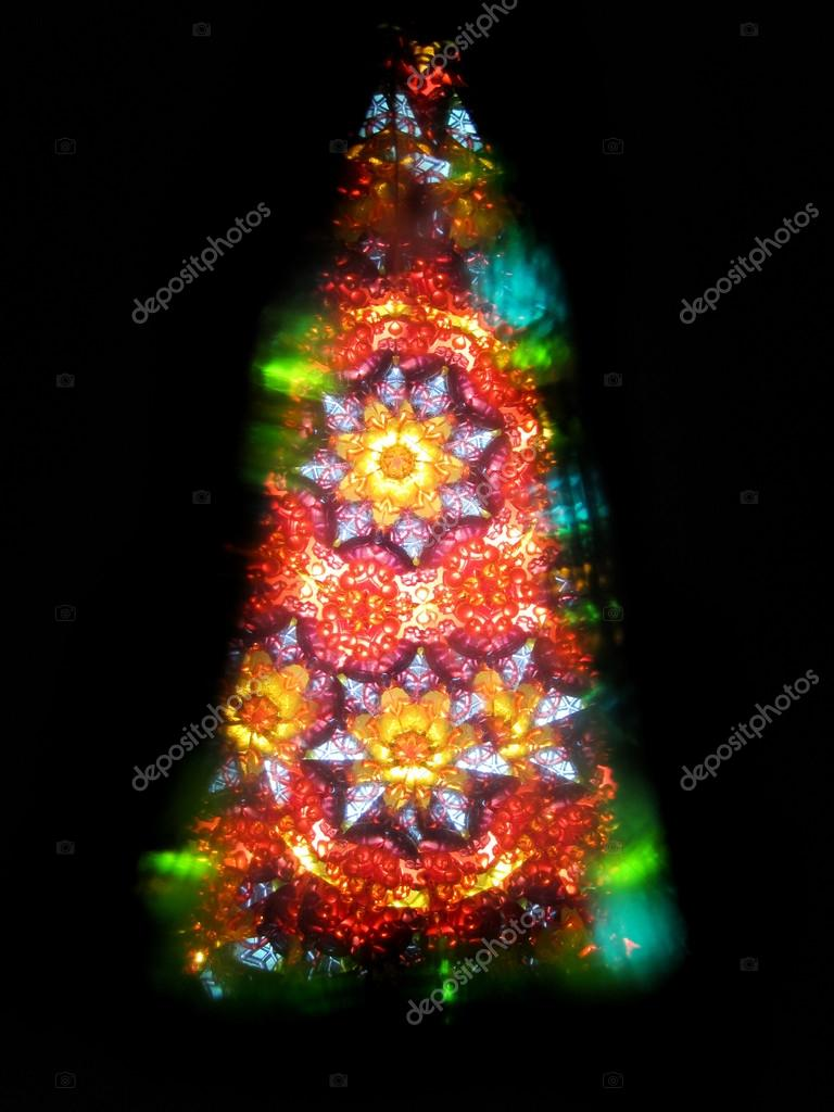 color kaleidoscope as christmas tree — Stock Photo © jonnysek #109602450