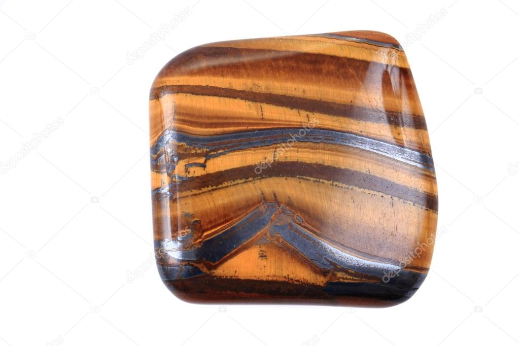 tiger eye mineral isolated