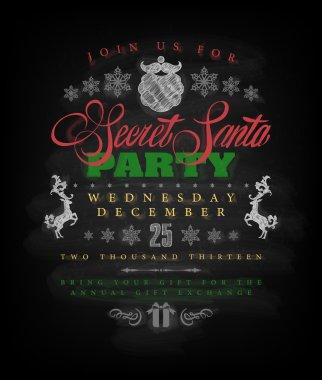 Christmas invitation at Santa party