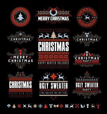 Christmas Typographic and Calligraphic elements