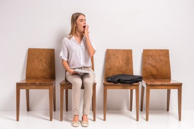Waiting job interview