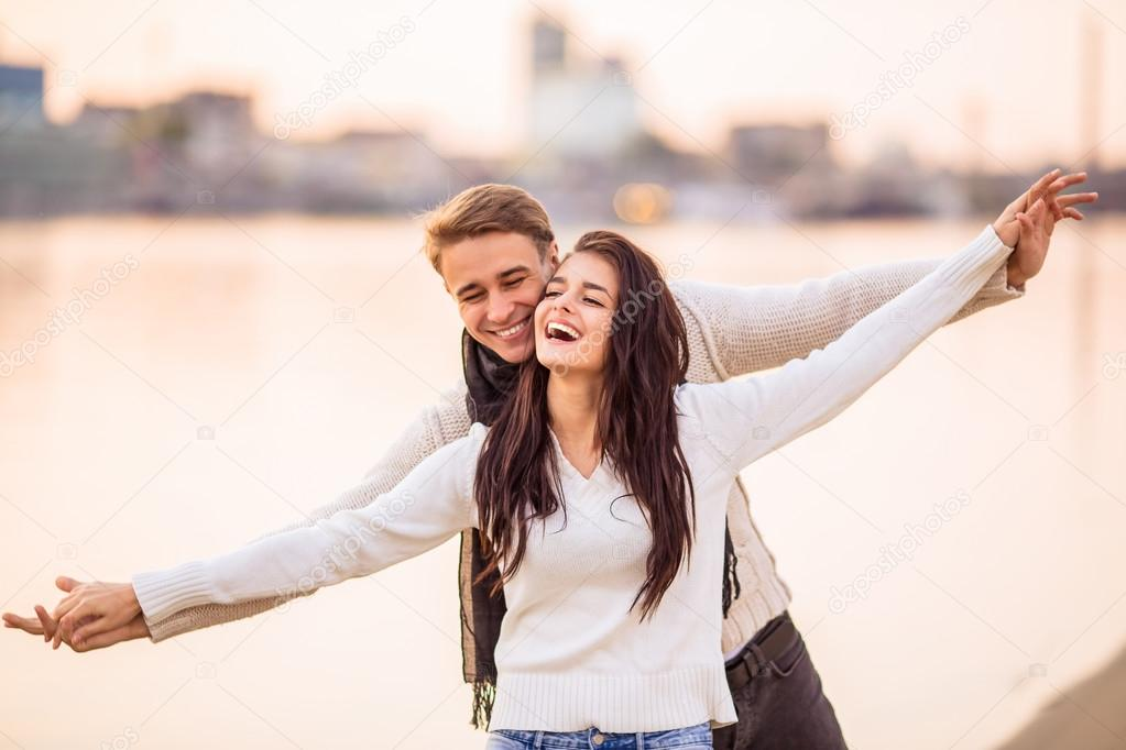 Loving couple on a date