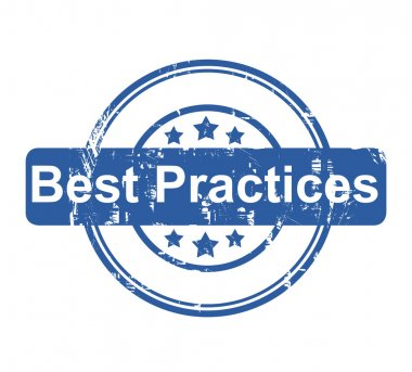 Best Practices business concept stamp