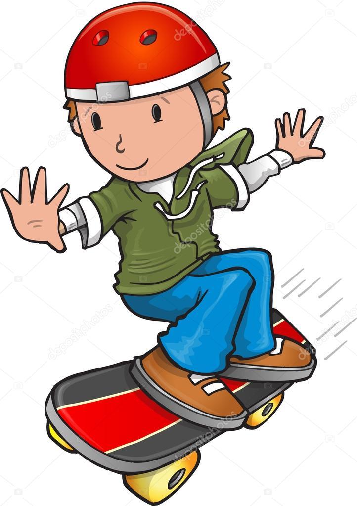 desenho de skatista vetor de stock misterelements 58362371