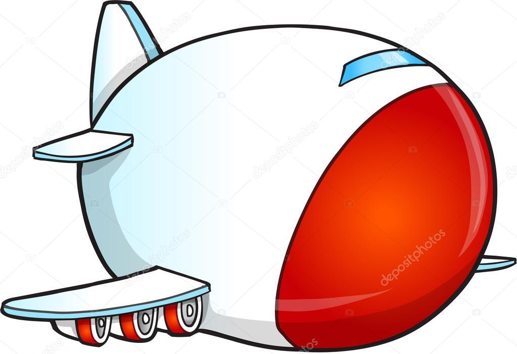 Cute dibujos animados Jumbo Jet Vector ilustración arte — Archivo ...