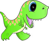 Fényképek Aranyos zöld dinoszaurusz
