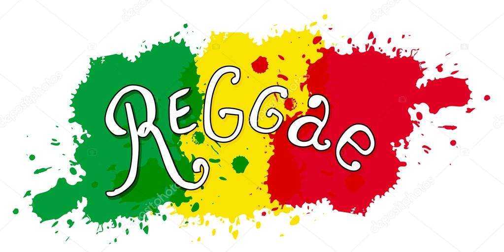 Print In Reggae Style Vector Isolated Typography Lettering