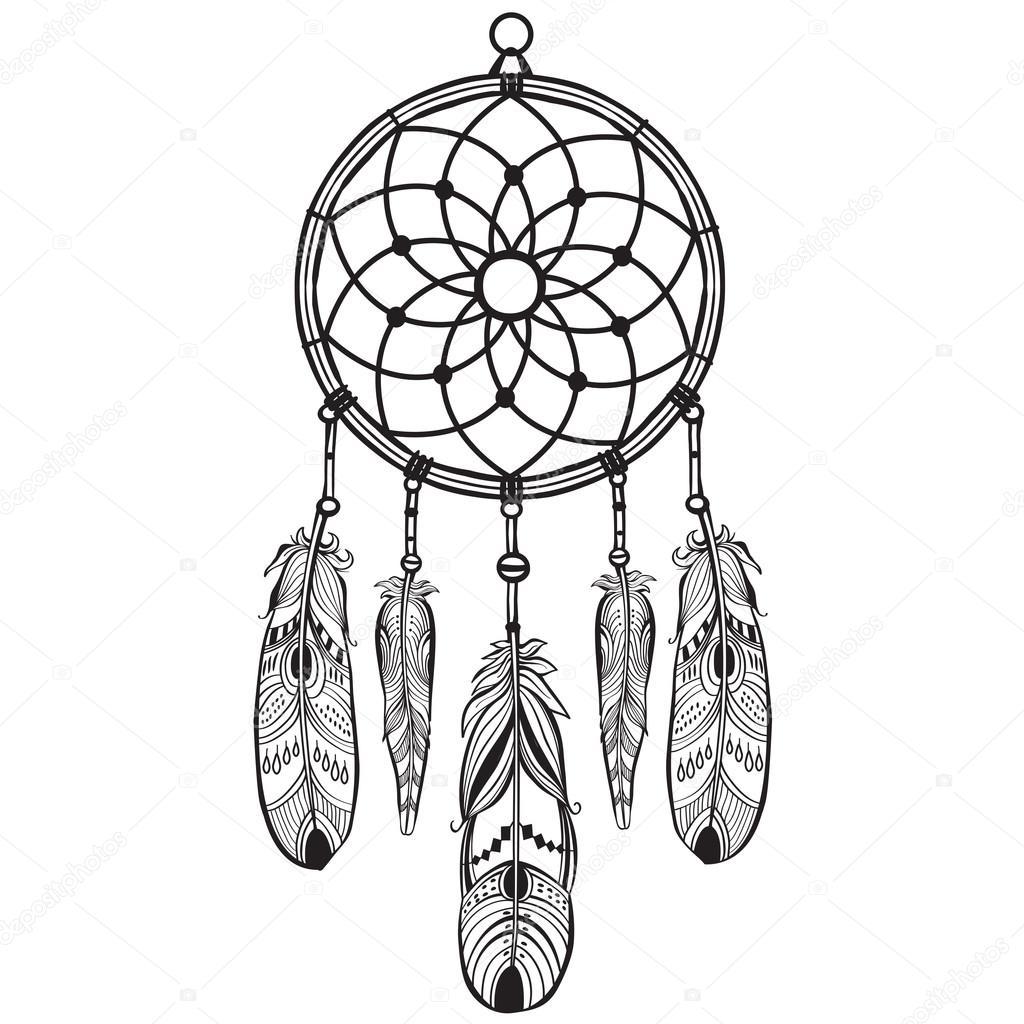 native american indian talisman dreamcatcher stock vector rh depositphotos com dreamcatcher vector dream catcher vector art