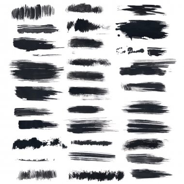 Set of grunge brush