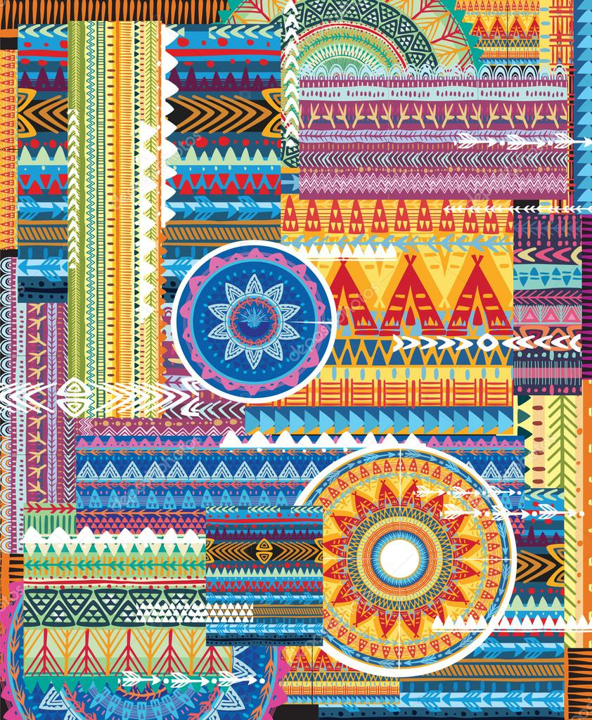 Background with tribal texture
