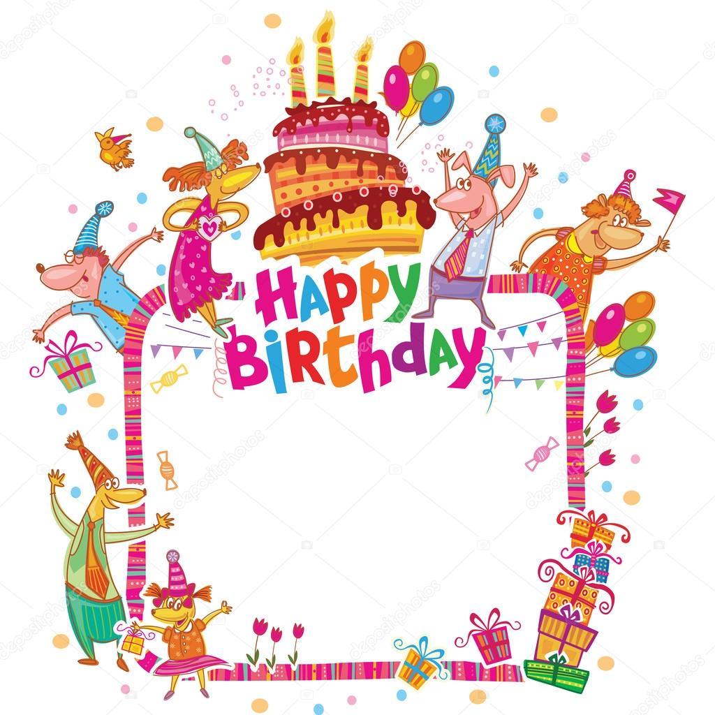 Grattis På Födelsedagen-kort Med Plats För Text