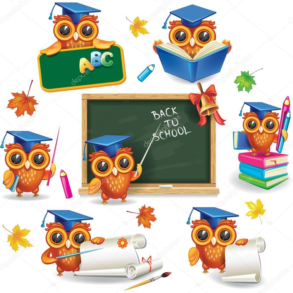 Картинки для детей умная сова