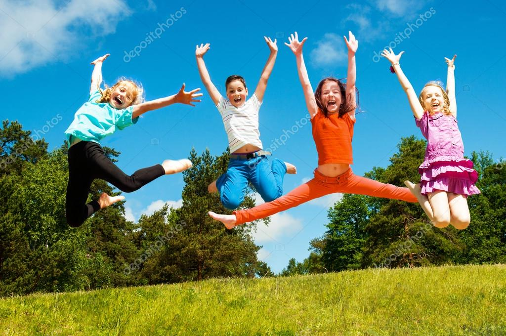 Happy active children