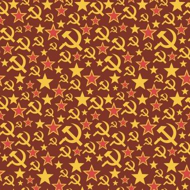 Soviet Union seamless pattern.