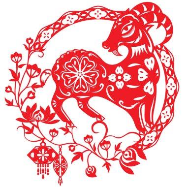Chinese year of Lucky Sheep Lamb
