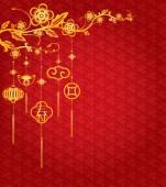 Fotografie Chinese New Year Background mit Goldene Dekoration