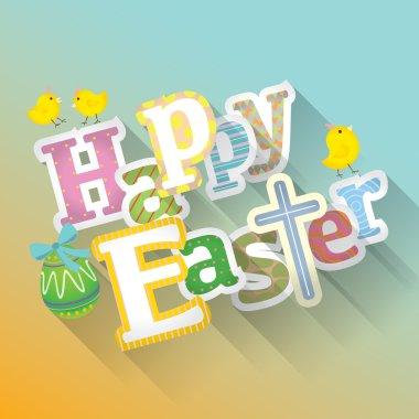 Happy Easter typographic background