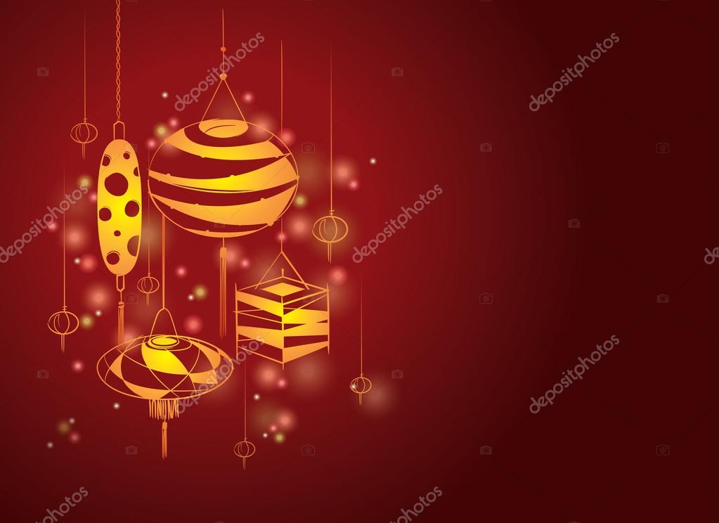 Contemporary lanterns background illustration