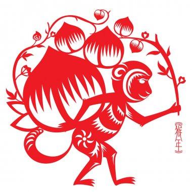 Year of Monkey illustration