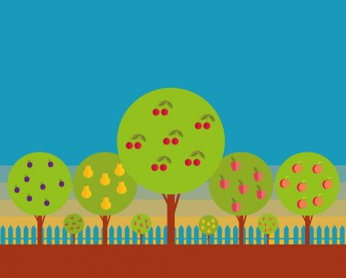 Orchard of Fruit trees
