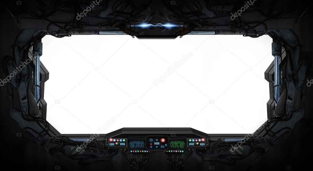 Interior de ventana de nave espacial fotos de stock for Interior nave espacial