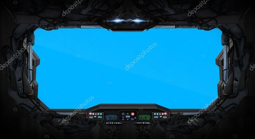 Interior De Ventana De Nave Espacial