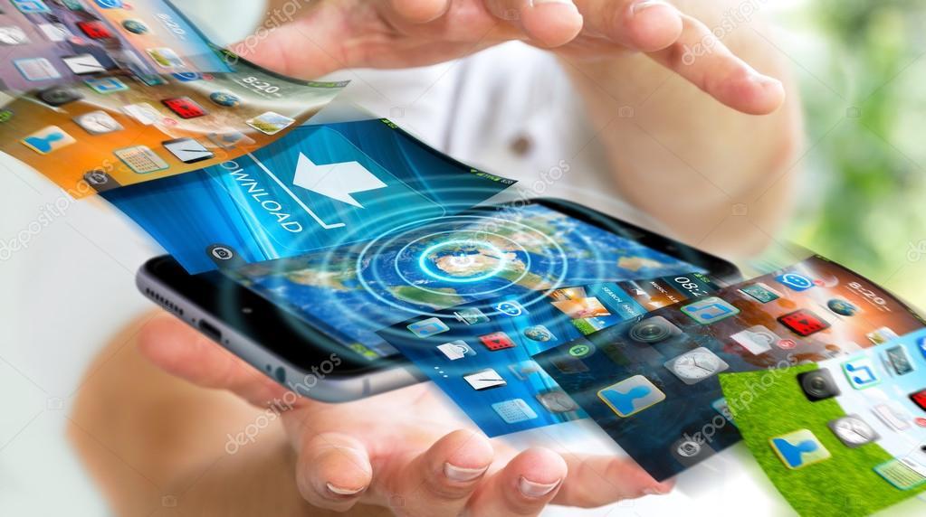 Uomo Daffari Accensione Sfondo Telefono Dispositivo Moderno 3d
