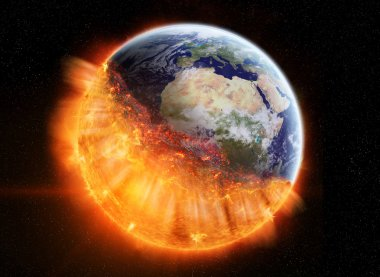 The end of planet Earth elements of this image furnished by NASA